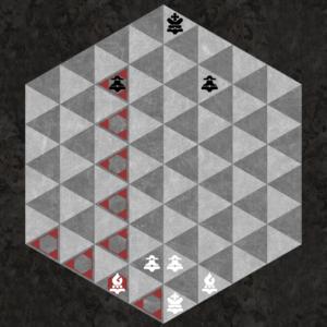 Dark Bishop captures along three dark triangular diagonal axes