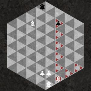 Light Bishop captures along three light triangular diagonal axes