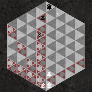 Queen captures along six triangular axes