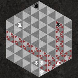Rook captures along three triangular axes