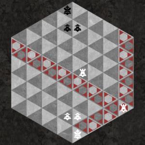 Rook moves along three triangular axes